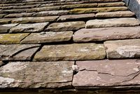 Roof tiles from local stone