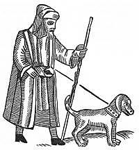 A blind beggar