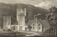Engraving of Llantony Abbey